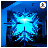 Popular Silvery inflatable lighting flower ball with LED lights  (BMDL275)