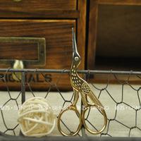 Zakka japanese style vintage small scissors gold scissors vintage fashion scissors