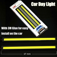 High Power Ultrathin COB LED DRL Car Daytime Running Light with Aluminum Baseboard and waterproof IP65 level