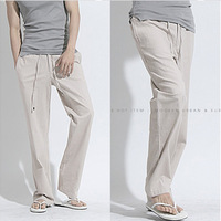 Freeshipping,2013 New Autumn Casual Linen Pants Men,Fashion Brand Linen Pants Male,Dropshipping,Wholesale&Retail M L XL XXL 3XL
