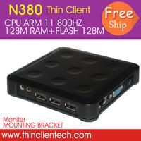 Network Terminal Thin Client Net Computer Share ARM,RAM 128M,FLASH 128M,USB,LAN,VGA,RDP Network  PC Station Multi User Terminal