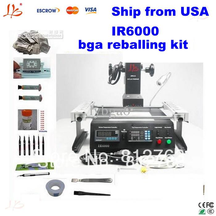 Shipping from USA,no taxes cost.IR6000 bga soldering station, Infrared heating as IR6500,bga reballing kit, bga rework station(China (Mainland))