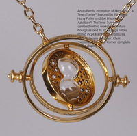 Min.order is $15 (mix order)~2013 New Arrival 24K Gold Plated Harry Potter Necklace Hourglass Necklace,Time Turner Necklace
