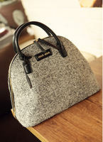 2014 High Quality fashion winter women's handbag coarse woolen bag shell bag portable work bags messenger bags