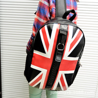 Christmas leisure pu leather backpack fashion British schoolbag fashion cute college girl backpacks comm-726