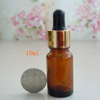 Dropper bottle,essential oil bottle,electrochemical Aluminum circle Rubber head bottle,Glass dropper, glass essence bottle,10 ml
