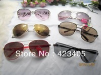 Free shipping 2014 Hot sale Men  women's fashion  Super Star lovely new metal frame mix Sunglasses  gift