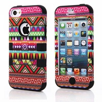 MOQ: 1PC FREE SHIPPING TRIBAL Robot 3 in 1 combo Rubber cover CASE FOR IPHONE 5C