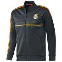 Free shipping top Thai version 2014 real Madrid N98 jacket Thailand quality 13/14 real Madrid jacket black football sports coat