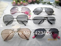 2014 Free shipping Hot sale Men women's fashion full frame Super Star lovely new metal mix Sunglasses  gift