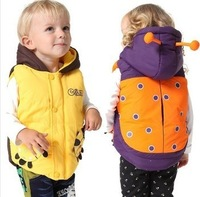 Free shipping! 2013 New Children's Cotton Vest Vest Cotton Vest Cartoon Children Clothing, Boys Girl vest winter 3pcs/lot