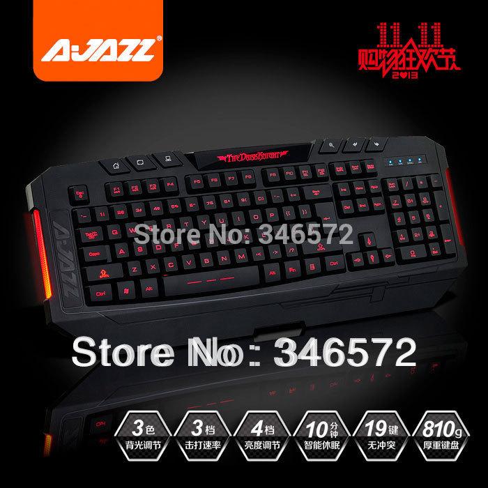 Vente en gros 2014 trois- couleur clavier rétroéclairé de jeu de clavier clavier d'ordinateur portable clavier filaire livraison gratuite