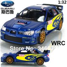 Free shipping Kinsmart soft world SUBARU wrc car model alloy WARRIOR car toy  Wholesale(China (Mainland))