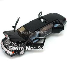Free shipping Kinsmart lincoln lengthen soft world four door car model alloy WARRIOR car toy classic