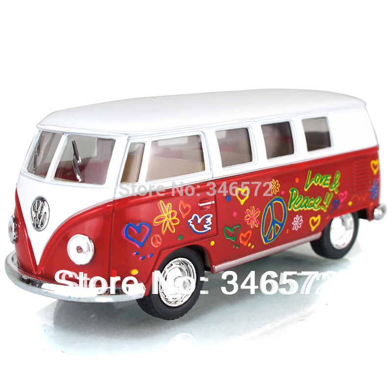Free shipping classic volkswagen bus soft world classical bus model toys Wholesale new 2014 baby & kids(China (Mainland))