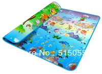 New Style Doulble-Side Printing Baby Play Mat 2*1.8 M Ocean And Zoo Child Beach Mat Picnic Carpet Crawling Mat Baby Rug CM001