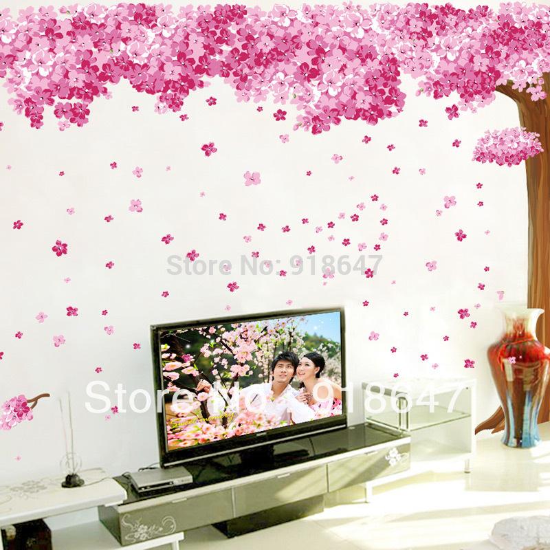 Online kopen wholesale kersenbloesem decor uit china kersenbloesem decor groothandel - Schilderij romantische kamer ...