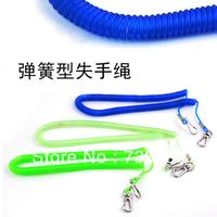 Double metal ultra elastic 5 meters spring accidently rope retractable elastodiene rope fishing tackle