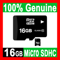 FREE SHIPPING - 100% GENUINE NEW 16GB MICROSD CLASS 10 MICRO SD HC MICROSDHC TF FLASH MEMORY CARD REAL 16 GB + FREE SD ADAPTER
