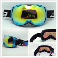 Free shipping 2014 new super horizon dual lens ski gogglesUV portect.Windproof,Sandproof,prevent fog,impact