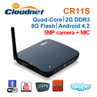 2013 Best Sell Cloudnetgo CR11S RK3188 Quad Core Android4.2.2 TV Box with 5MPCamera and Microphone android tv box