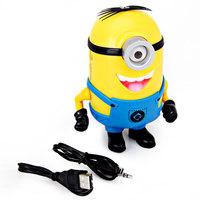 XC-01 Single Eye Despicable Me Cute Minions Mini Speaker Support MP3/TF Card/FM Radio (Yellow)