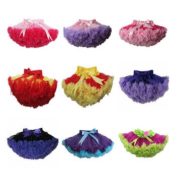 2013 новый бесплатная доставка девочка популярное шифон пушистый рюшами юбка, Дети день рождения мягкая юбка XM-525
