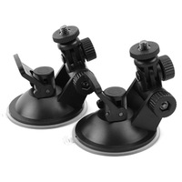 Universal vehicle car driving recorder camera suction cup bracket mount holder black color 1pcs