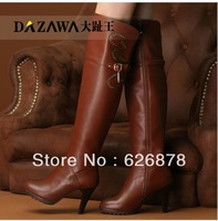 2013 winter genuine leather cowhide over-the-knee 25pt high-heeled boots fashion boots tall boots