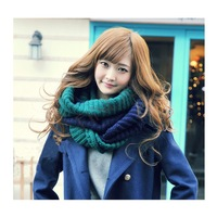 2014 New Scarf Women Mixed Colors Pullover Knitted Scarf Ring Winter Collars Lover's Scarf 19002