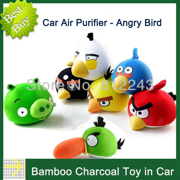 New Car Accessories Decoration Purify Radiation Car Air Freshener Bird Pig Bamboo Charcoal Bag Air Bamboo Charcoal Bag 20004(China (Mainland))