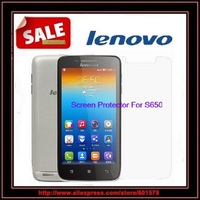 (10PC)screen film protector for lenovo S650 3G smartphone Screen Protector FREE SHIPPING