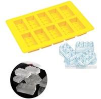 Free Shipping 400pcs Brick Block Ice Mold  Ice Cube Tray, brick ice tray, block ice mold mix colors