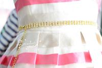 1 pcs 2 row/ 3 row fashion cintos femininoS Waistband  crystal rhinestones silver /golden belt  Chain buckle  for Women