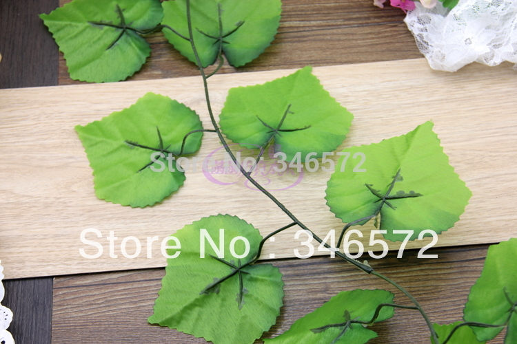 Free shipping Artificial grape vine grape fruit rattails vines model at home decoration rattan grape rattails wholesale(China (Mainland))