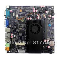 Factory Mini-ITX mainboard Micro main board mini main board Integrated Intel Dual Core Atom D525 CPU Support DDR3