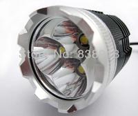 2 Full Sets 3x Cree XM-L XML T6 LED 3600 Lum Red 4Mode Bicycle Light Cycle Bike Lamp HeadLamp Headlight Flashlight Silver color