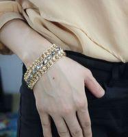 female exaggerated fashion value encrusted bracelet