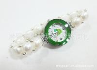 Hot sale! Elegant Pearl Bracelet Girls Lady Quartz  Wrist Watch Luxury Christmas Gift Free Shipping