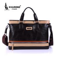French kangaroo brand male handbag messenger bag 2014 man dress business bag pu leather