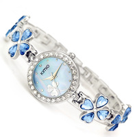Hot Brand Kimio Stainless Steel Strap Leaf Clover Fashion High Quality Luxury Lady Diamond Bracelet Watch Free Shipping K456L
