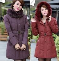 Big size coat women winter coat 2014 down cotton coat women plus size mother clothing thickening jackets outerwear winter coats