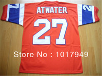 Free Shipping Authentic Throwback American Football Jersey #27 Steve Atwater Throwback Jerseys Wholesale Embroidery Logos