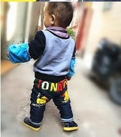 2 pieplant - 5 winter duck pattern children denim trousers cotton-padded