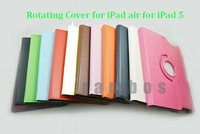300 Piece 360 Degree Rotating Case for iPad 5 Magnetic Leather Case Smart Cover for iPad Air (100 Stylus 100 Protector 100 Case)