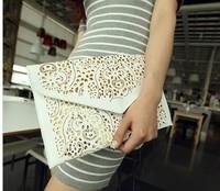 2014 Vintage National Women's Trend Handbag Cutout Envelope Bag Shoulder Crossbody Bag Day Clutch