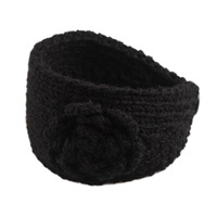 11Colors Knitted Winter Flower Ear Warmer Headband Women's Hairband Headwrap Braided Scrunchy Headbands For WomenFD0017
