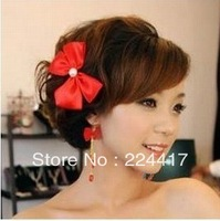 headwear Hair accessory bridal accessories bridal hairpin red hair accessory earrings piece set th070  hairwear
