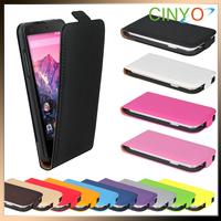 Nexus 5 Leather Case, Slim Flip Case Leather Cover for LG Nexus 5, 200pcs/lot 50pcs per color Free Shipping