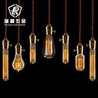 High quality vintage bar decoration chandelier light include Edison bulb+copper lamp holder+twist wire and ceiling base110V 220V